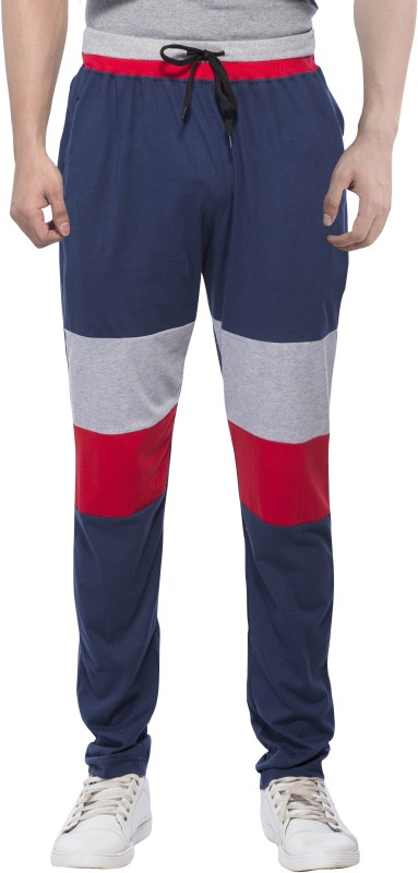 5. Maniac Solid Men's Dark Blue Track Pants