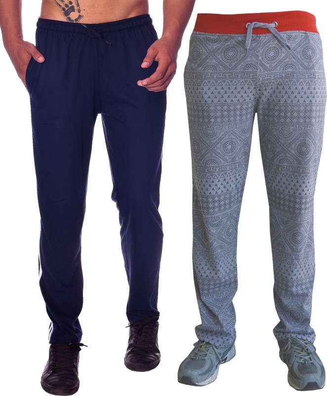 Shaun Solid Men's Grey, Dark Blue Track Pants