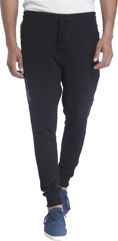 Jack & Jones Solid Men Dark Blue Track Pants