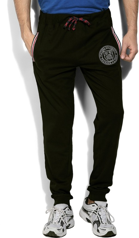 John Players Solid Mens Black Track Pants