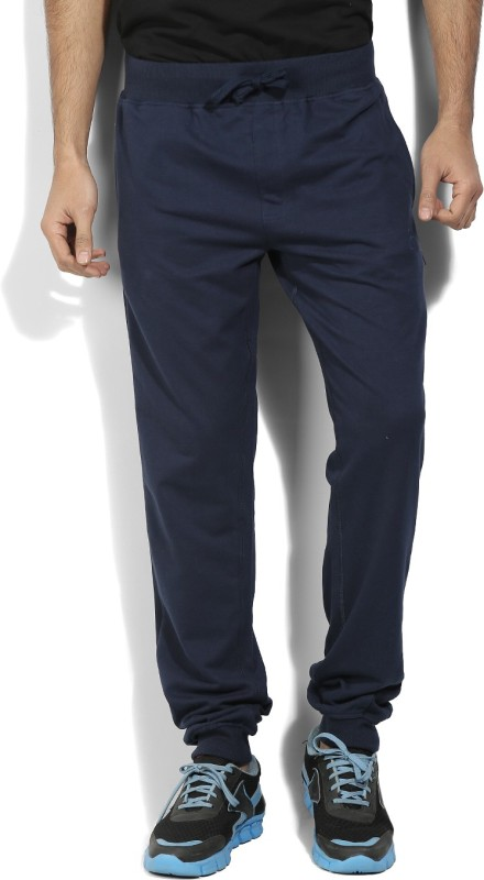 John Players Solid Mens Blue Track Pants