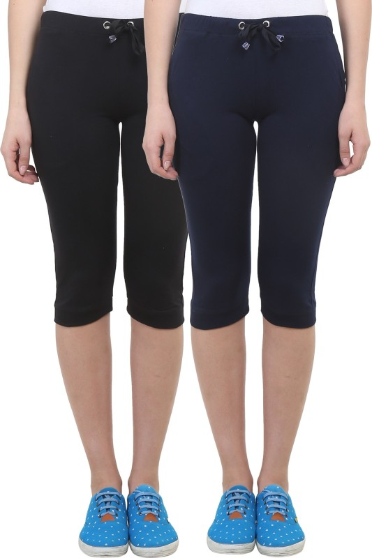 Vimal Solid Women's Black, Blue Track Pants