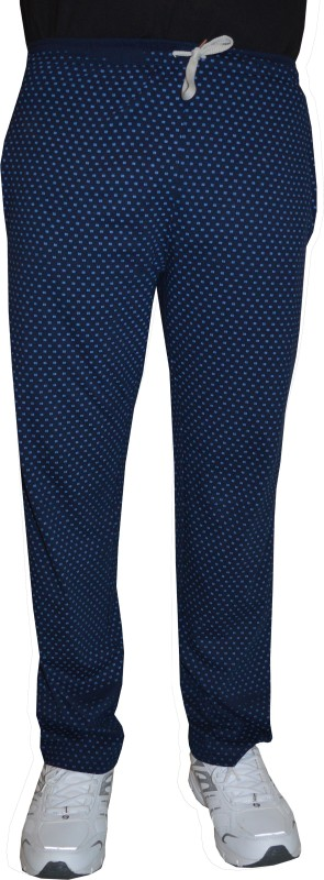 Shaun Printed Men's Dark Blue Track Pants