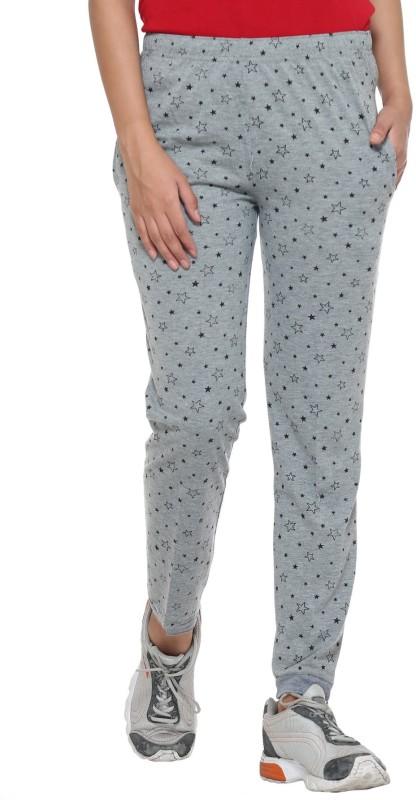 Vimal Printed Women's Silver Track Pants