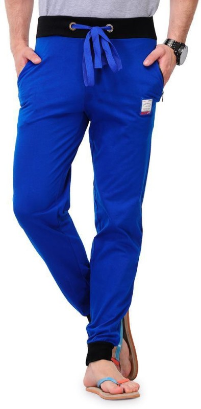 3. Solid Men's Blue Track Pants