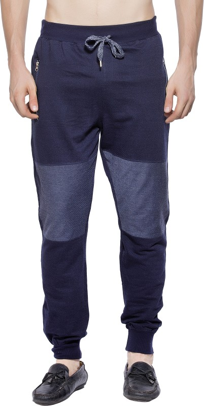 Maniac Solid Men's Dark Blue Track Pants