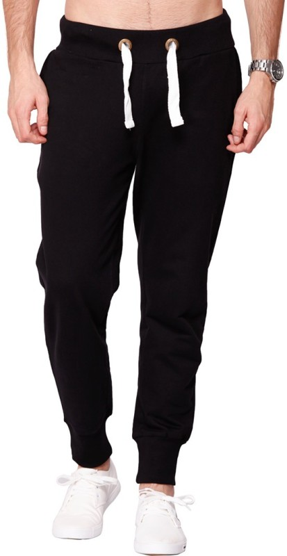 Bewakoof Solid Men's Black Track Pants