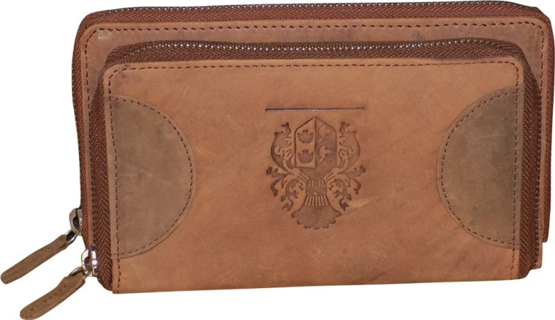 Style 98 Women Tan Genuine Leather Document Holder(16 Card Slots)