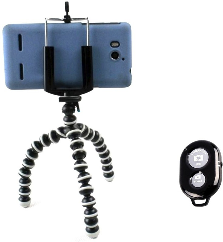 Smiledrive All Surface Mini Flexibel Mobile Tripod Selfie Stick(Multicolor, Supports Up to 500 g)