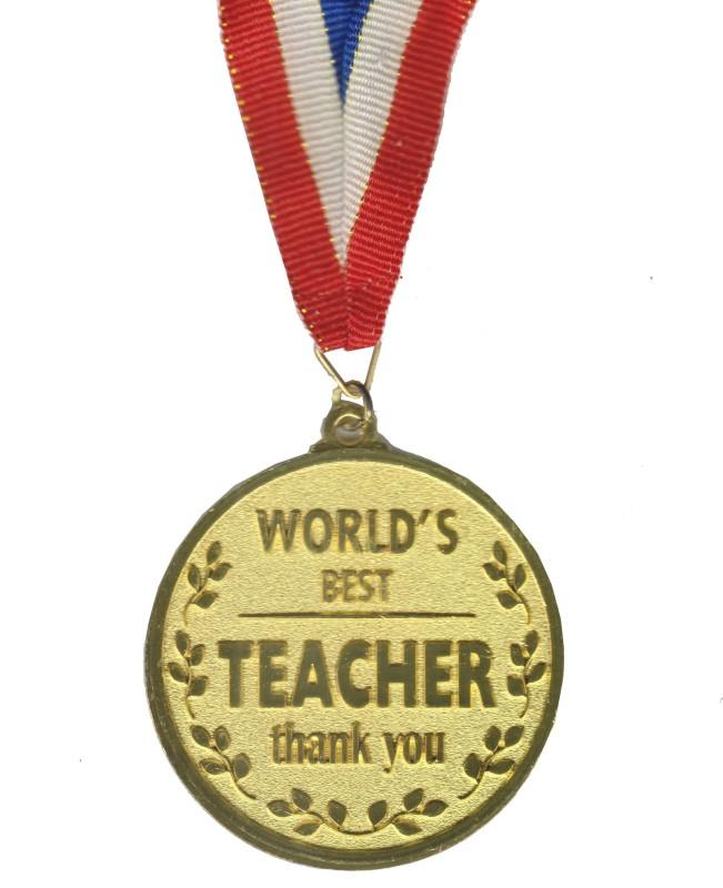 Atpata Funky World'S Best Teacher Gold Medal Medal(M)