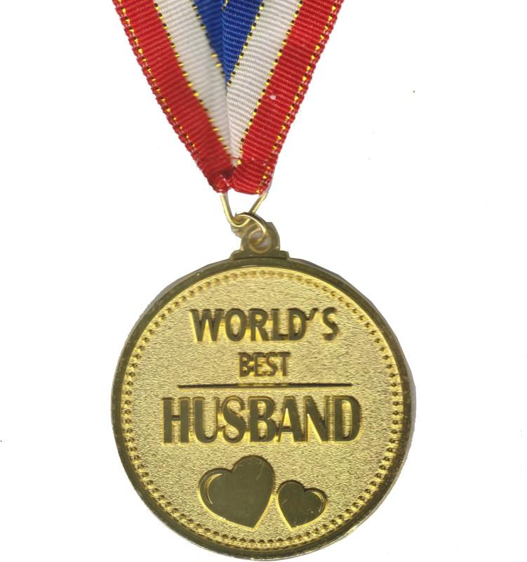Atpata Funky World's Best HUSBAND Gold Medal Medal(M)