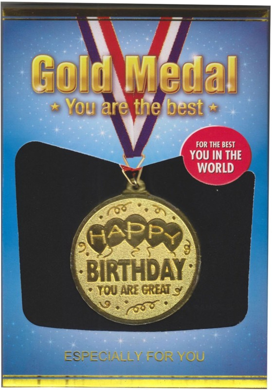 Atpata Funky Happy Birthday Gold Medal Medal(M)