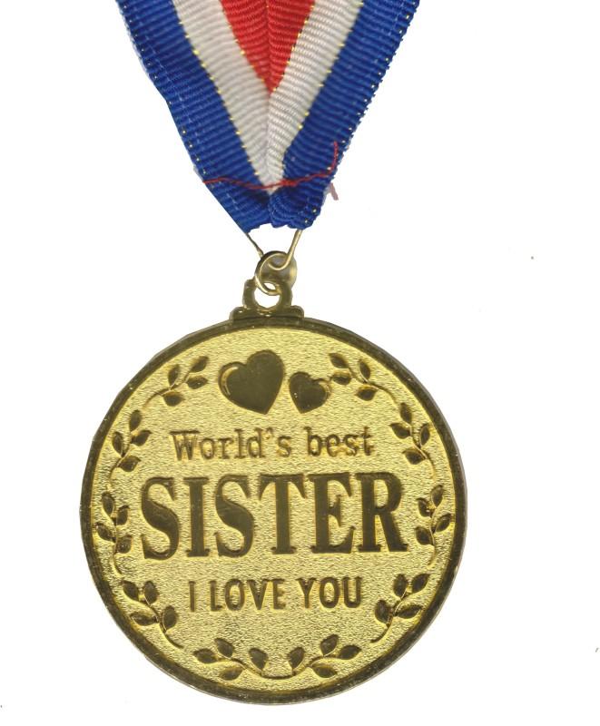 Atpata Funky World's Best SISTER Gold Medal Medal(M)