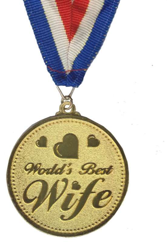 Atpata Funky World's Best WIFE Gold Medal Medal(M)