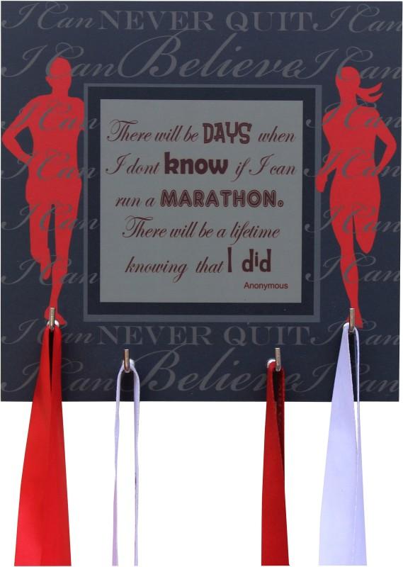 Runwynd I Ran A Marathon Medal Hanger - Black Medal(M)