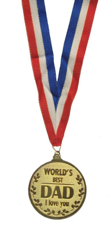 Atpata Funky World'S Best Dad Gold Medal Medal(M)