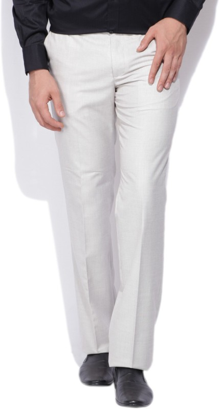 Arrow Slim Fit Mens White Trousers