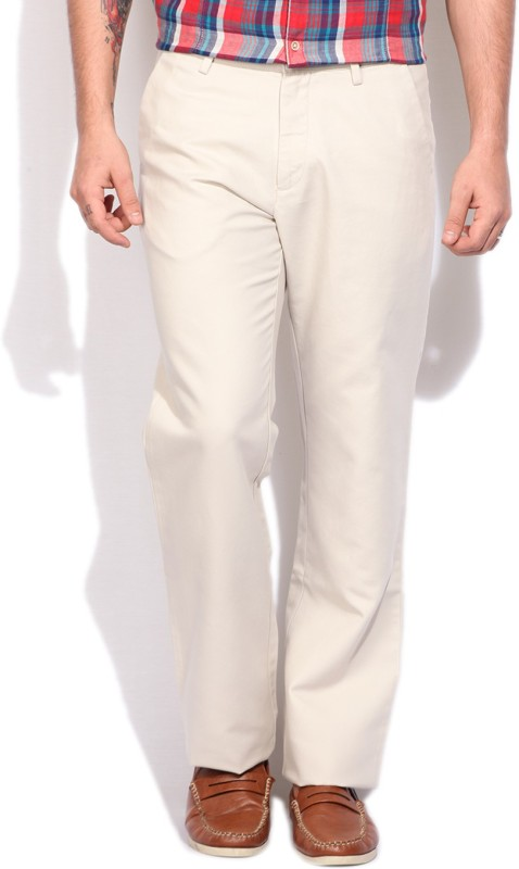 Arrow Sport Regular Fit Mens White Trousers