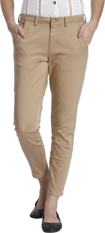 Only Skinny Fit Womens Brown Trousers