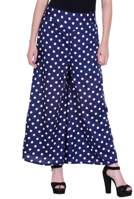 Flying Duck Regular Fit Women's Blue Trousers