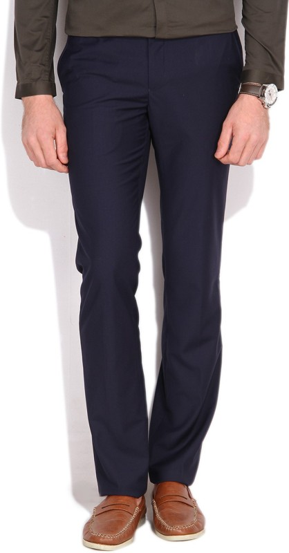 V Dot by Van Heusen Slim Fit Mens Dark Blue Trousers