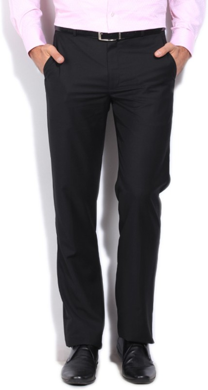 Louis Philippe Slim Fit Mens Black Trousers