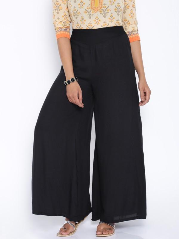 Rigoglioso Regular Fit Womens Black Trousers