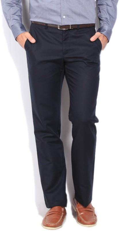 Louis Philippe Regular Fit Mens Black Trousers