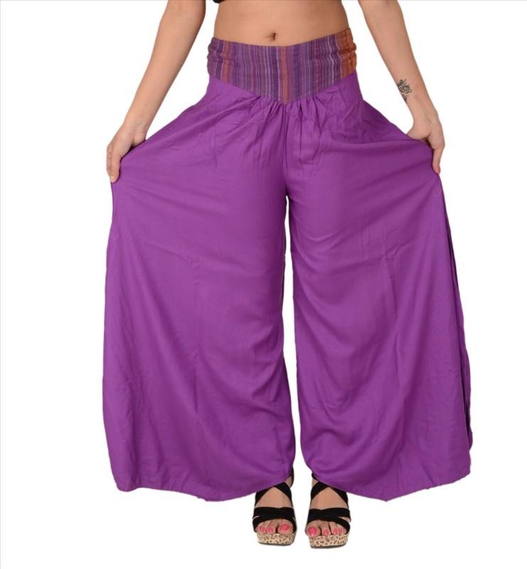 Skirts & Scarves Regular Fit Women's Purple Trousers