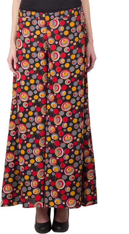 Trend Arrest Printed Palazzo Regular Fit Women Red Trousers