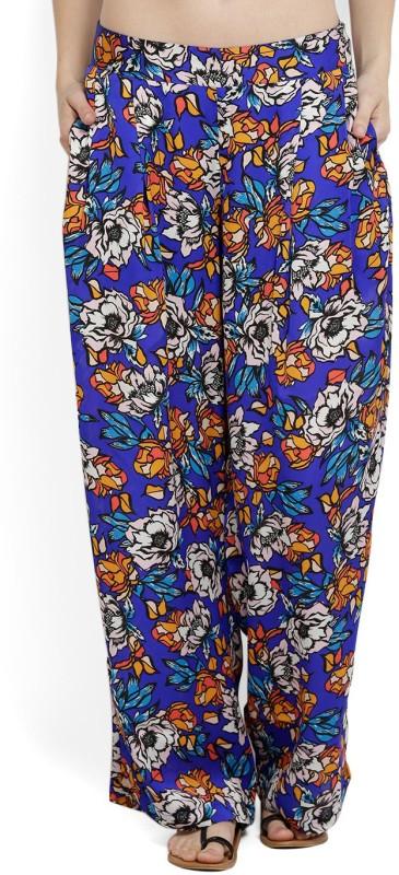 Allen Solly Regular Fit Womens Blue Trousers
