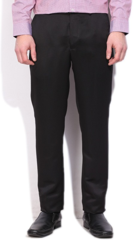 V.Dot by Van Heusen Slim Fit Mens Black Trousers