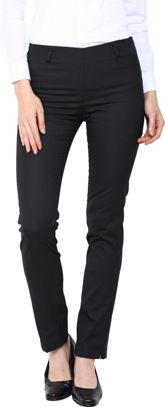 Arrow Regular Fit Womens Black Trousers
