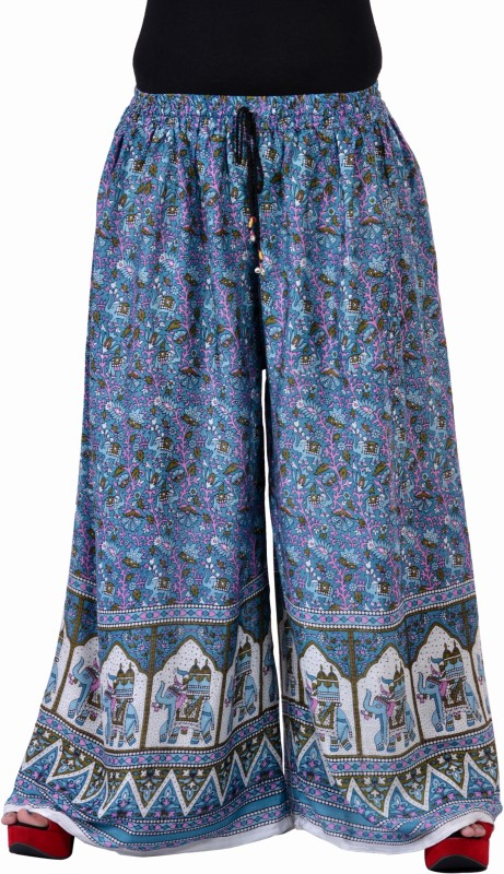 Soundarya Palazzo Regular Fit Women Blue Trousers