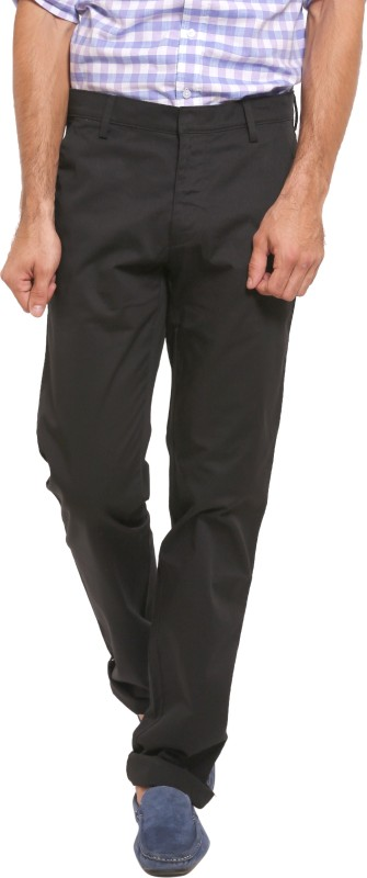 Classic Polo CKHBLKSFW Black Slim Fit Men's Black Trousers