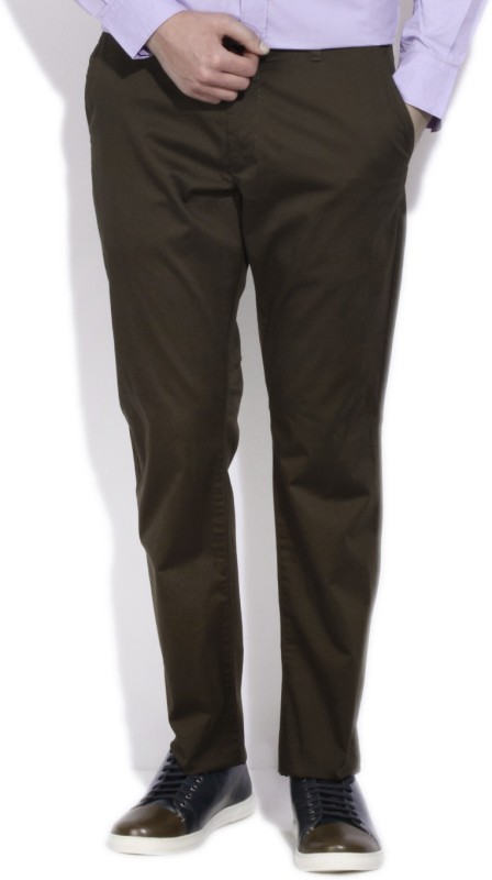 French Connection Slim Fit Mens Brown Trousers