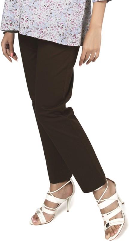 Nine Maternity Wear Regular Fit Womens Brown Trousers