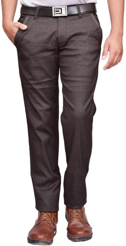 British Terminal Slim Fit Men Brown Trousers