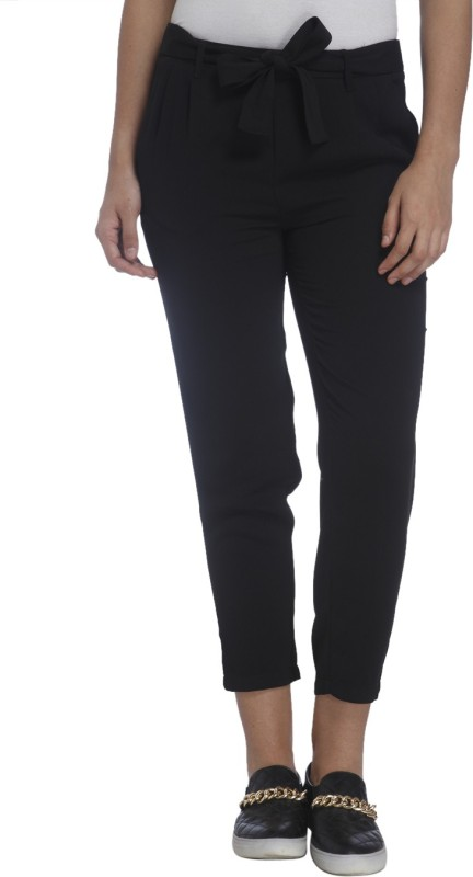 Only Regular Fit Womens Black Trousers