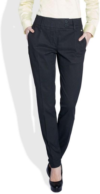 Park Avenue Slim Fit Womens Black Trousers