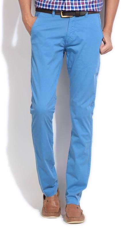 Izod Slim Fit Mens Blue Trousers