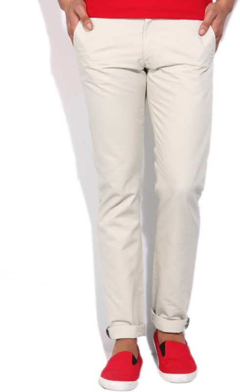 Allen Solly Mens Beige Trousers