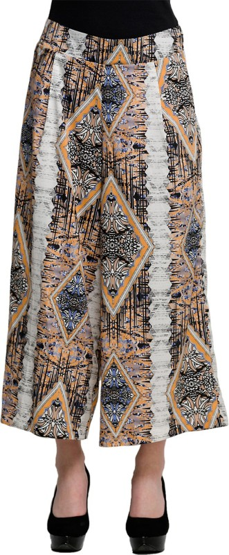 Oxolloxo WomenS Printed Palazzos Regular Fit Womens Multicolor Trousers