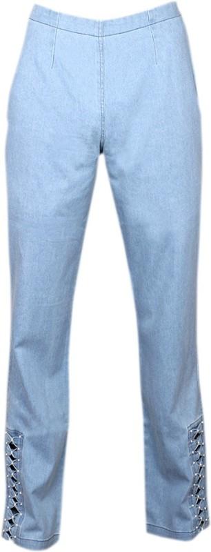 Alpha Lady Regular Fit Women's Blue Trousers