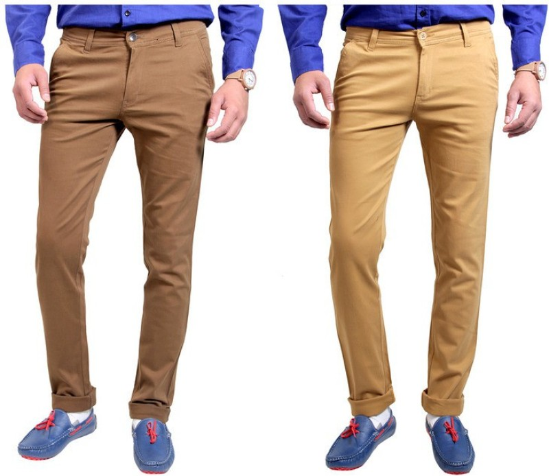 Routeen Slim Fit Men's Multicolor Trousers