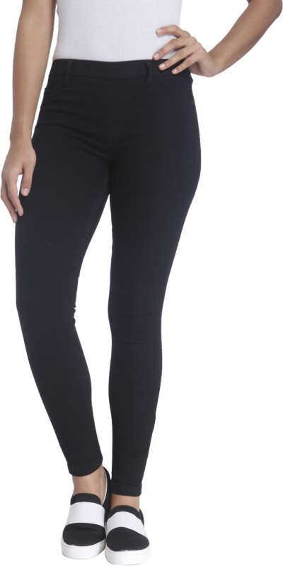 Only Skinny Fit Womens Black Trousers