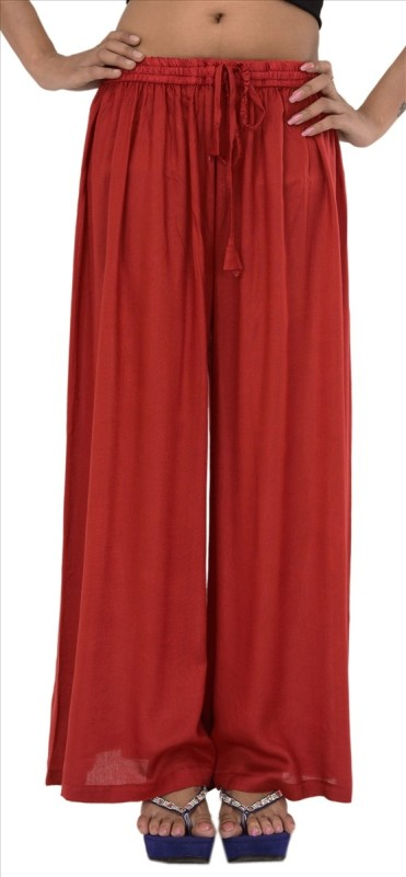 Skirts & Scarves Regular Fit Women's Red Trousers