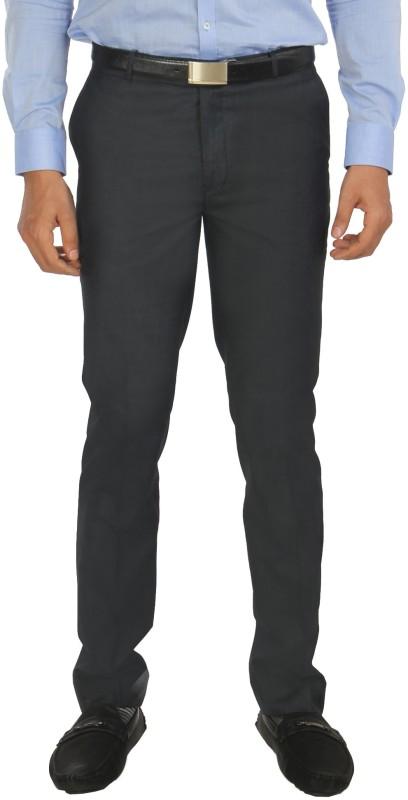 Zido Slim Fit Men's Dark Blue Trousers