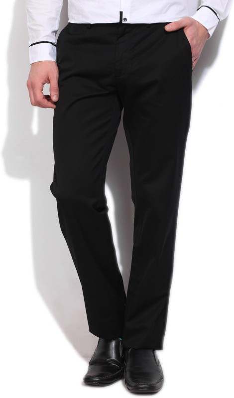 Louis Philippe Slim Fit Mens Black Trousers