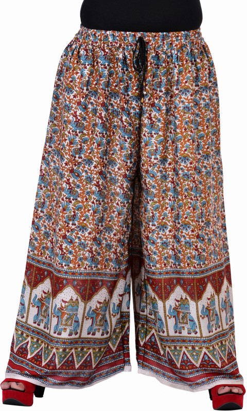 Soundarya Palazzo Relaxed Women Multicolor Trousers